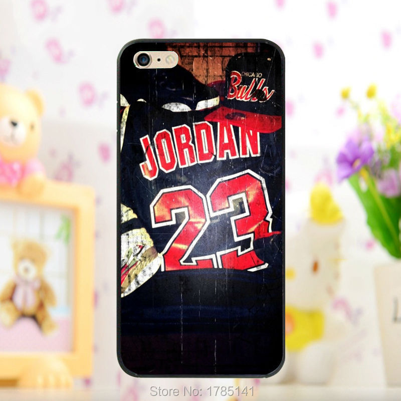 1pcs 2015 Basketball Jordan 23 hard black Skin Case for iphone 5 5s 4 4g 4S 5c Retail(China (Mainland))