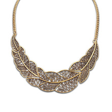 Hot Collier Femme Women Statement Collar Chain Zinc Alloy Pendant Necklace jewelry N1193