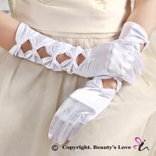 Womens Sexy Stretch Lace Long Length Gloves Black Mesh Gauntlets Full Finger Sex Lingerie Etiquette Gloves