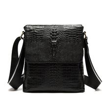 2016 Men Crocodile Style Messenger Bags Genuine Leather Men Bag Alligator Business Male Crossbody Shoulder Bag Tablet PC Handbag(China (Mainland))