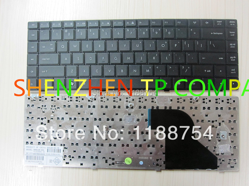 Brand New original laptop keyboard ForHP COMPAQ '625 620 621 CQ620 CQ621 CQ625 Service US version Black colour US Layout(China (Mainland))