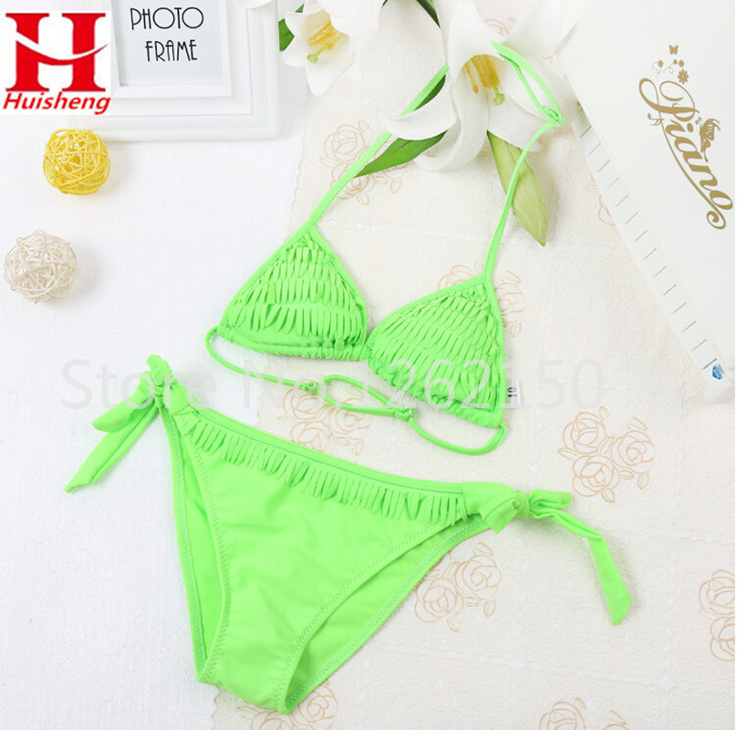 2016 Girl Children Bikini Set Bathing Suit Beach Wear Swimsuit Two Pieces Low Waist Swimwear maillot de bain Little Kid - The first station of outdoor sports store