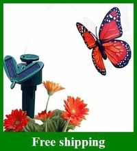 2015 Popular Simulation Flying Butterflies Solar Butterfly  solar Energy and battery combo can choose style Christmas GIFT(China (Mainland))
