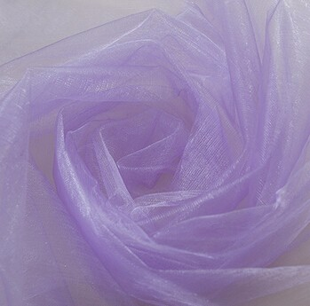 Solid color fabric for summer dress transparent organza material for wedding decoration(China (Mainland))
