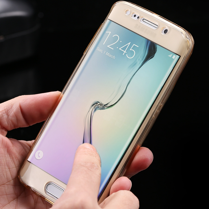 For Samsung Galaxy S7 Edge G9350 Funda Transparent Touch Screen Clear Complete Coverage Case For SamsungS7 Edge Soft Slim Cover(China (Mainland))