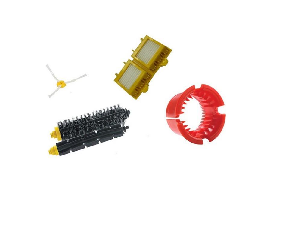 Hepa Filter+arm side brush+Bristle and Flexible Beater Brush+vacuum pet brush tool for iRobot Roomba 700 Series 770 780 790(China (Mainland))