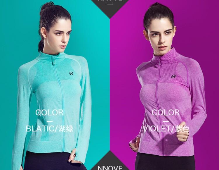 2016 Female Zip Sweatshirt Women Fashion Sports T-shirt Running Yoga Fitness Fast drying Girl Lady Fitness Clothing Workout (29)