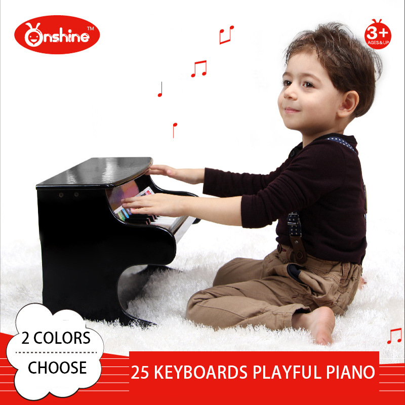 25 keyboards Piano Music Toy Baby Toy Wooden playful Piano Musical Toys Instrument for Children Kids Educational Electric Toy(China (Mainland))