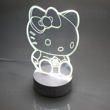 NEW AC110-260V Creative Novelty Optical illusion 3D Luminous Led Night Light Bedroom Lamp Indoor Lighting Party with 3 modes
