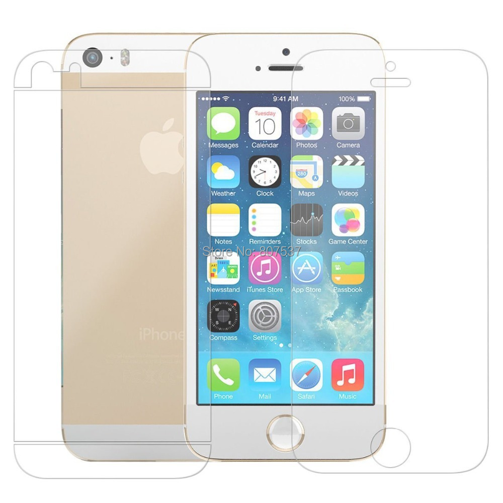 Anti-Glare Matted Front Back Screen Protector for iPhone 5 5S Screen Protective Film Matte Screen Guard+Cleaning Cloth Freeship