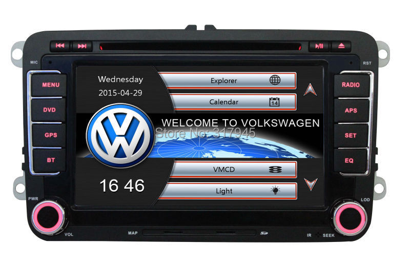 Wholesale! 2 Din 7 Inch Car DVD Player For VW/Volkswagen/Passat/POLO/GOLF/Skoda/Seat With 3G USB GPS BT IPOD FM RDS Free Maps(China (Mainland))