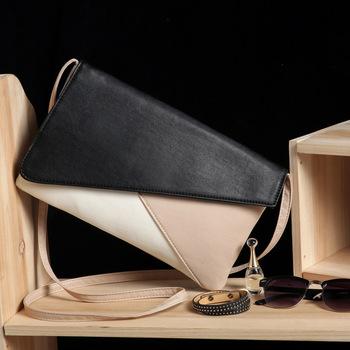 2015 новых мужчин сумки пэчворк цвет конверт клатч сумка плеча мешок-женщины pu кожаные сумки