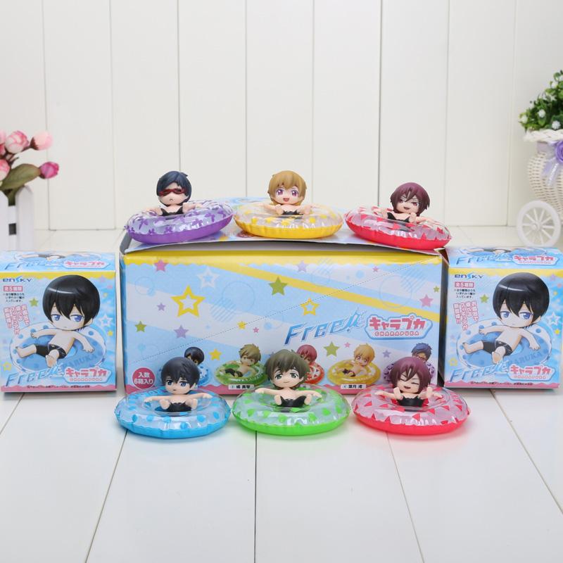 6pcs/set Free! Iwatobi Swim Club Haruka Nanase Makoto Tachibana Nagisa Hazuki Rin Matsuoka Rei Ryugazaki Action Figure Toys(China (Mainland))