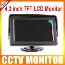 4.3 pulgadas de visualización del Monitor TFT Color LCD Monitor para el coche opinión posterior del revés o CCTV cámara del Monitor 2 de entrada AV 1 Way(China (Mainland))