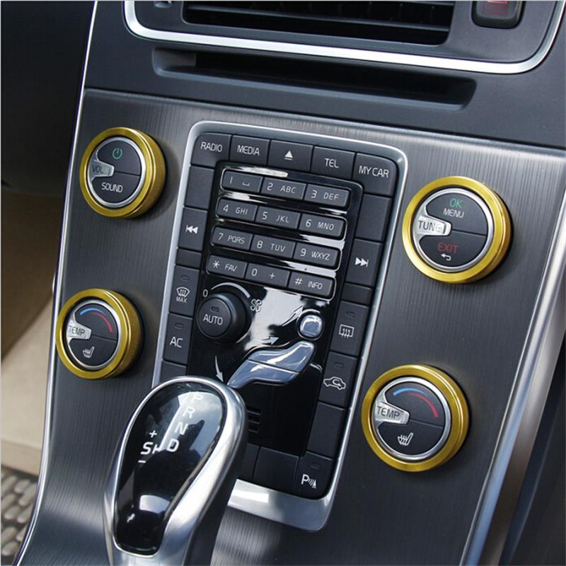 4PCS new car air conditioning rotary knob for volvo xc60 s60 v60 s80 v40 car air conditioning heat control switch/sound knob(China (Mainland))