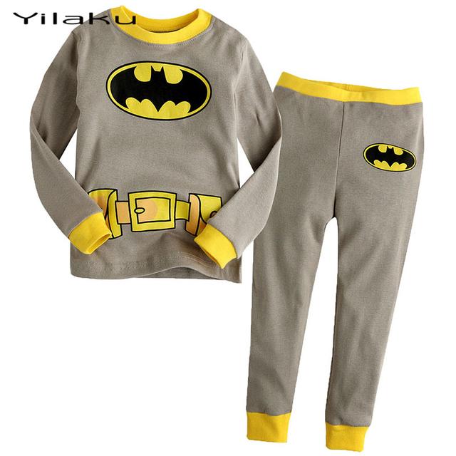 Мальчики пижамы одежды дети бэтмен пижамы комплект детской одежды комплект мальчик мультфильм Pijamas дети весна осень пижамы CF237