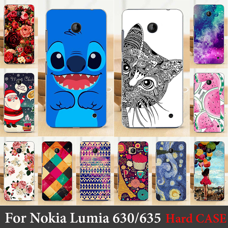 Case For Nokia Lumia 630 635 Colorful Printing Drawing Transparent Plastic Mobile Phone Cover For Hard Phone Cases(China (Mainland))