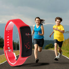 Fashion Sport LED Watches Candy Color Silicone Rubber Touch Screen Digital Watches Waterproof Bracelet Wristwatch