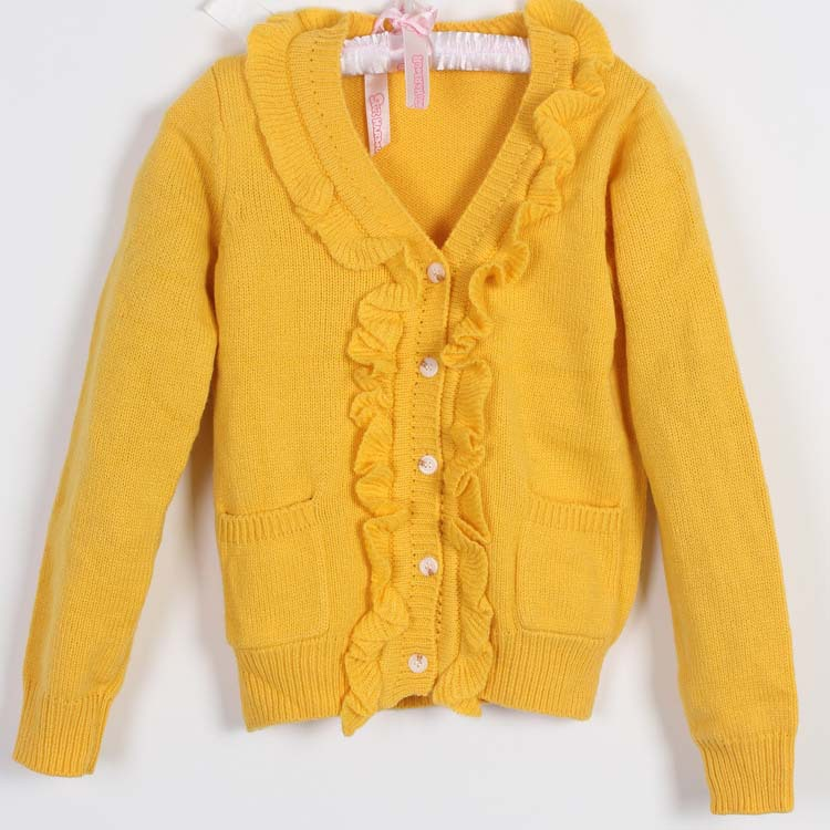 Free Knitting Patterns For Girls Sweaters : Children Autumn&winter fashion cardigan baby girls free knitting patterns...