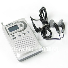 Free Shipping AM FM Pocket Radio 2 Band Receiver LCD Alarm Clock New