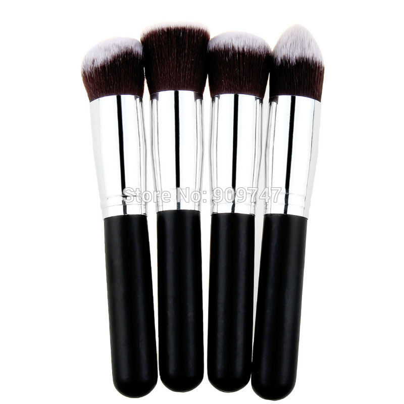 high quality 4 pcs/lot Synthetic makeup Brush single makeup tool Cosmetic brush kits,Drop Free Shipping(China (Mainland))