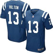 2016 Uomini Indianapolis Colts #12 Andrew Luck #13 T Y Hilton, blu Nero Bianco 100% cucita logo, spedizione gratuita()