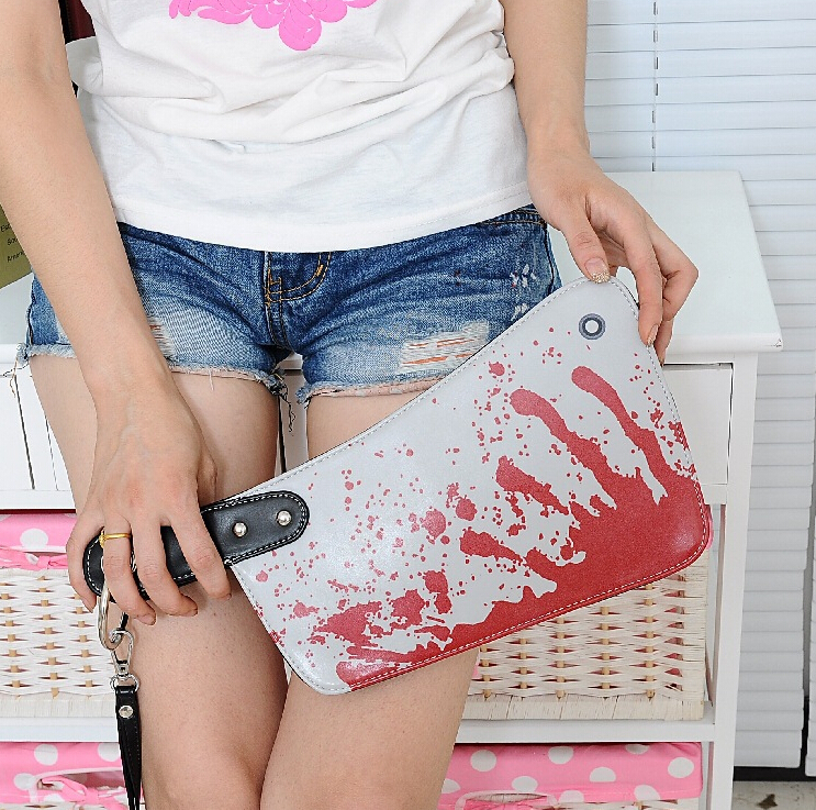 Hot Sale ! 3d Blood Clutch Bags Handbag Creative Phone Package Mans Womens Novelty Bag(China (Mainland))