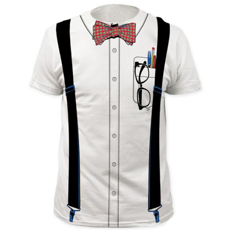Men Funny Tuxedo T Shirt Costumes Party Tops(China (Mainland))