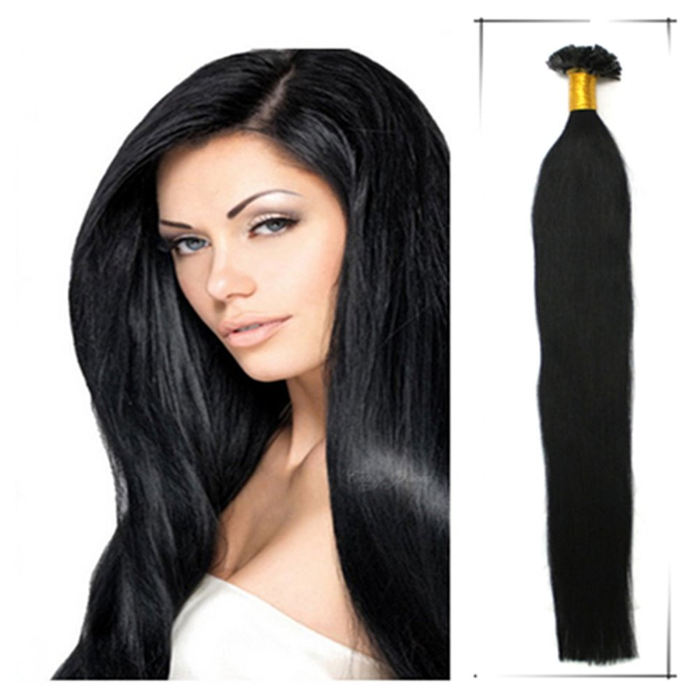 Wholesale Straight Brazilian Human Pre Bonded Hair Extension 22Inch/55cm 0.5g/s U Tip Hair Extensiones De Cabello Superior(China (Mainland))