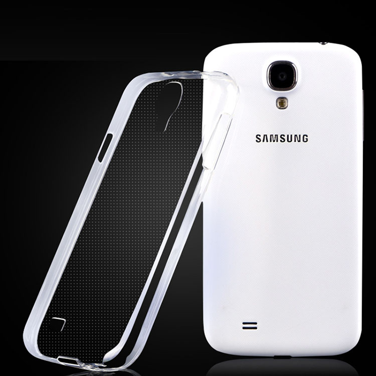 Cases for Samsung Galaxy S4 I9500 Ultra Thin Mobile Phone TPU Material Soft shell Cover Transparent Crystal Clear Case S 4(China (Mainland))