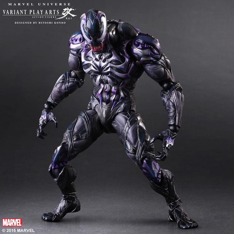 SQUARE ENIX Play Arts KAI Spiderman Venom Marvel Universe Variant Action Figure Collection Toy 26cm MVFG347