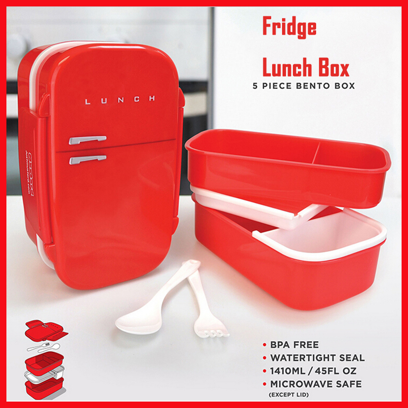 4 khoang t l nh shape bento tr a box for kids food. Black Bedroom Furniture Sets. Home Design Ideas