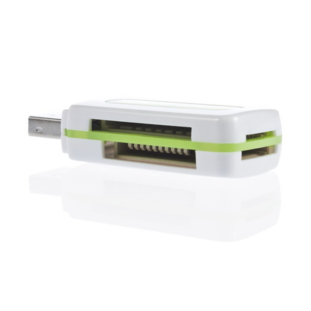 In stock! 1pcs USB 2.0 4 in 1 Memory Multi Card Reader for M2 SD SDHC DV Micro SD TF Card green Free / Drop Shipping(China (Mainland))