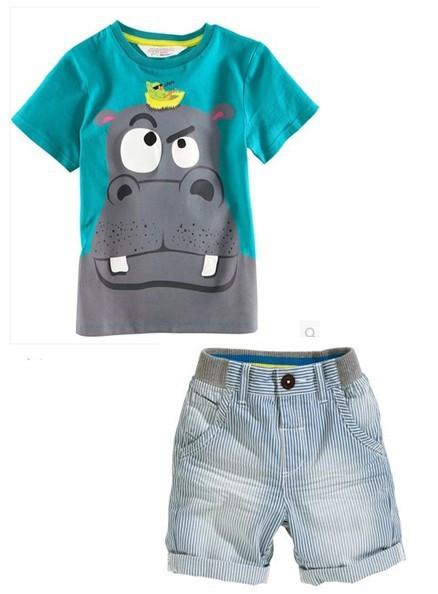 baby Boys clothing shorts Summer cartoon Sets Boys 2015 casual Brand Clothing Set Kid Apparel T-shirt+Shorts free shipping(China (Mainland))