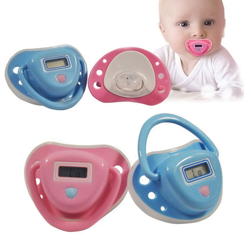 Baby Thermometer Pacifier Type Health Monitors Electronic Termometer Smart Digital Silicone Pacifier Thermometer LCD Digital(China (Mainland))