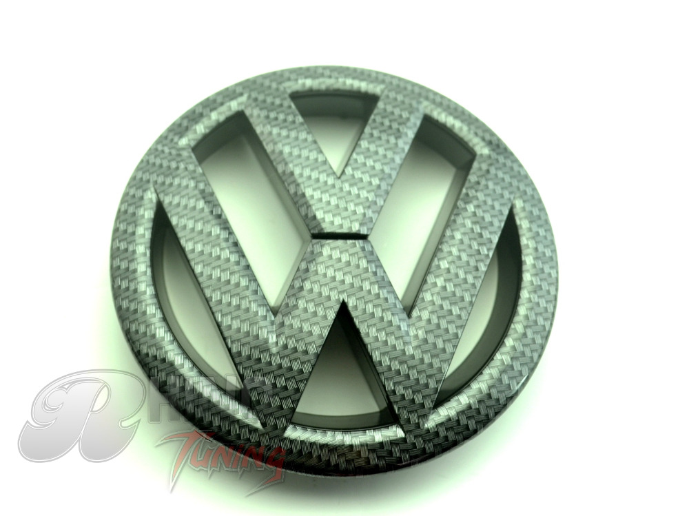 1PC 145mm VW Passat Tiguan 2012 - 2015 Car Auto Front Carbon Fiber Badge Style VW Emblem 251f(China (Mainland))