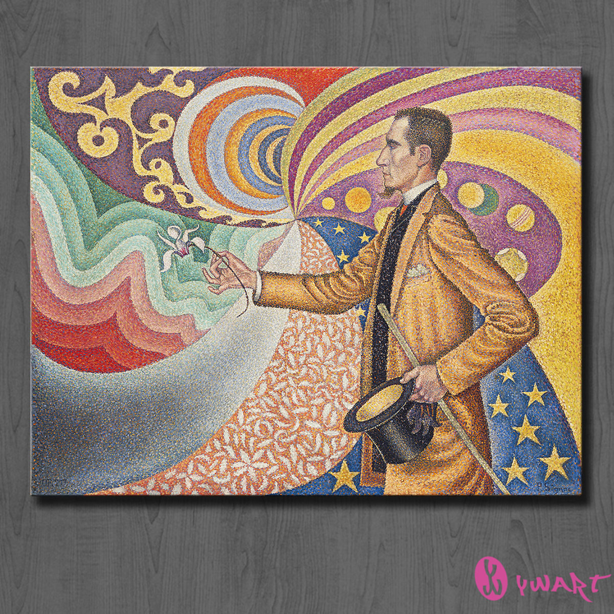 HUGE WALL PAINTING ON CANVAS Paul Signac Opus 217 Against the Enamel of a Background Wall Art Picture For Living Room painting(China (Mainland))