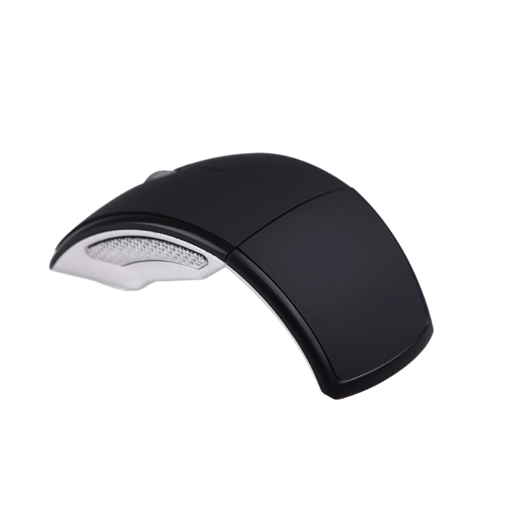 Vogue 2.4Ghz Wireless USB Optical Foldable Arc Mouse Snap-in Transceiver Portable Folding Mice For Laptop Notebook PC Computer(China (Mainland))