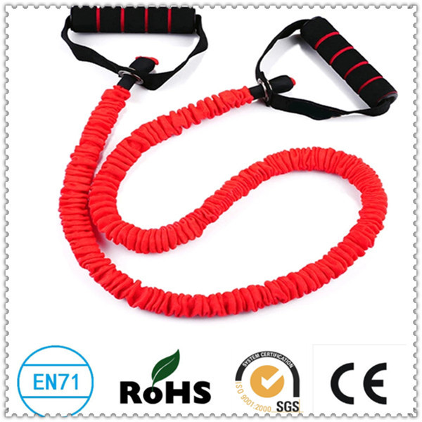 Hot Sale 1.2m 6*9mm Elastic Bungee Cord Crossfit Resistance Bands With Nylon Sleeve(China (Mainland))