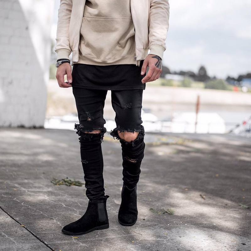 Online Buy Wholesale skinny ripped jeans 40 men from China skinny ...