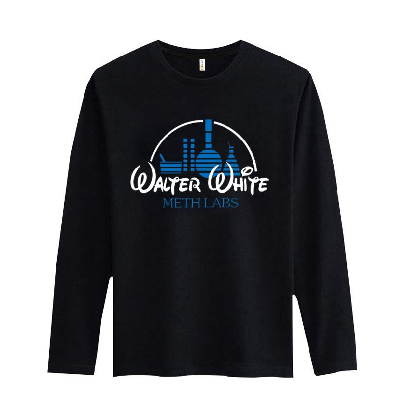 Yymeth maker walter white logo t shirt slim fit o neck t for Logo t shirt maker