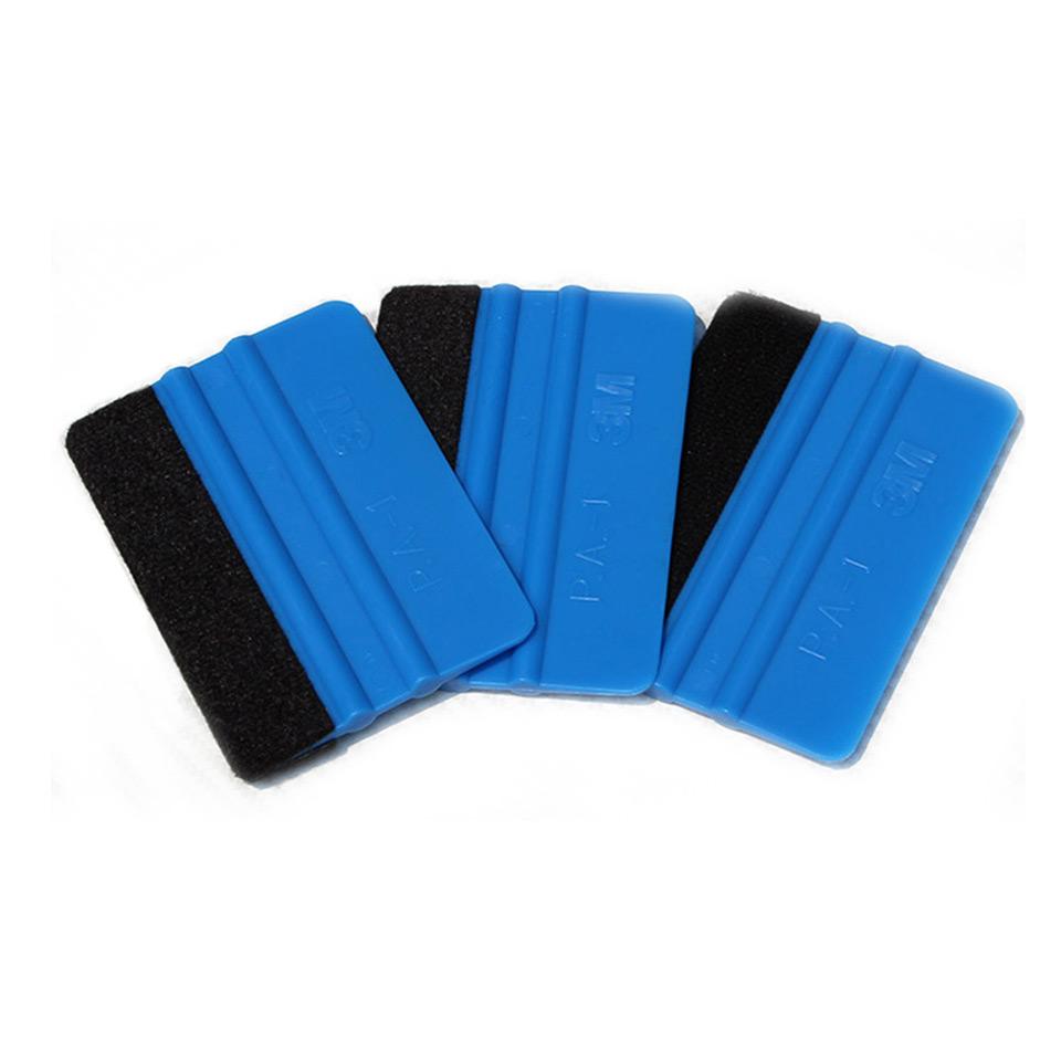 Good quality vehicle tuning tool 10*7.5cm 3m blue felt edge Bump cards bondo 3M Hand Applicator Squeegee with felt MX-PA-1F(China (Mainland))