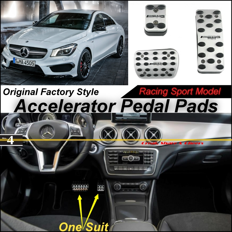 Car Accelerator Pedal Pad / Cover Factory Sport Racing Design Mercedes Benz CLA Class MB C117 W117 AT Foot Throttle