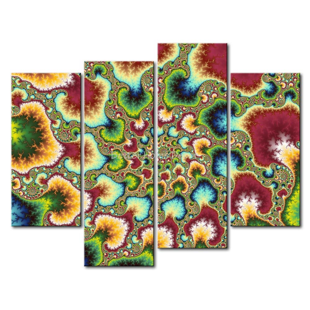 3 piece fresh look color wall art painting psychedelic for Fresh look painting