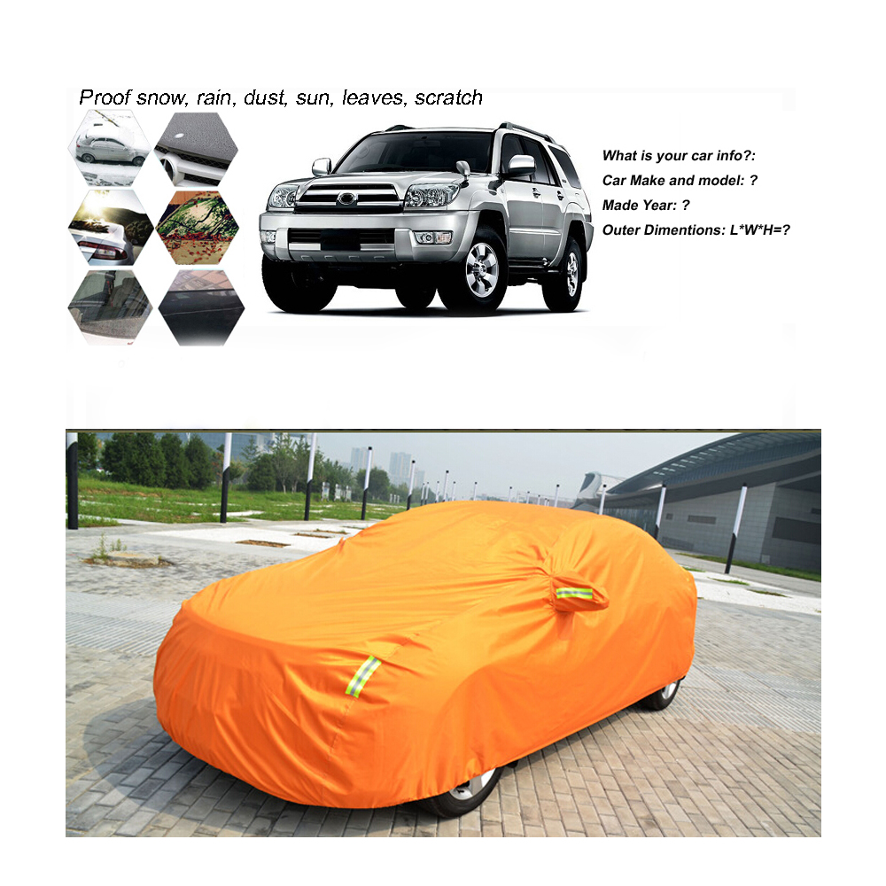 SUV Oxford Car Cover Outdoor Water Proof Rain Sun Dust New Gen For Nissan Armada Orange(China (Mainland))