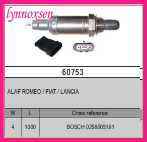 ALAF ROMEO / FIAT / LANCIA Oxygen o2 sensor Denso lambda sensor Sonde lambda 0258005191(China (Mainland))