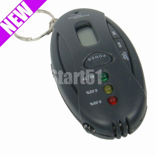 wholesale free shipping Digital LED Alcohol Breath Tester Breathalyzer Analyzer
