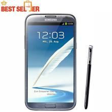 "N7100 Original Unlocked Samsung Galaxy Note II Note 2 Mobile phone Quad Core 5.5"" Android 2GB RAM 16GB ROM 8MP Multi-language(China (Mainland))"