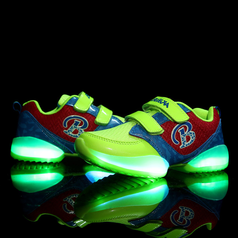 Children New Emitting Luminous Shoes with Led Light Kids Glowing Fashion Sneakers for Boy and Girls Fall and Winter Brand 1023<br><br>Aliexpress