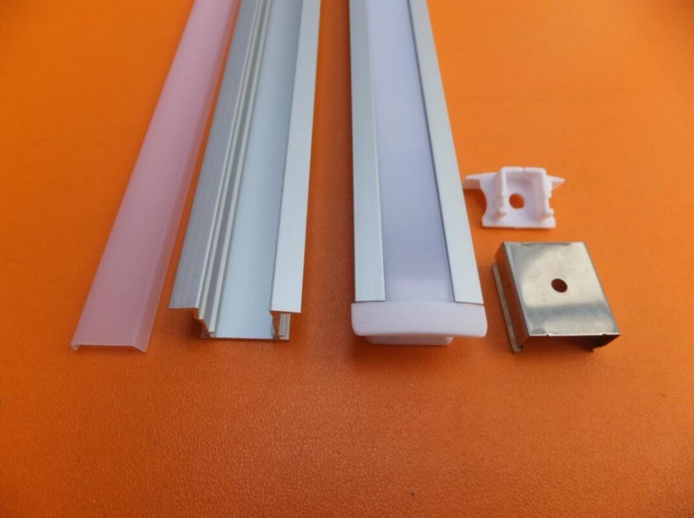 Free Shipping Custom Aluminium Profile for Led Decorative Strip Light /Led Strip Light Parts/Led Channel Light Accessories(China (Mainland))